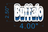 Buffalo logo flock sticker iron on transfer