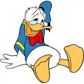 Donald Duck DIY decals stickers version 9