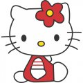 Hello Kitty DIY iron on stickers (heat transfer) version 14