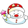 Personalized Christmas Snowman DIY iron on stickers (heat transfer) 4