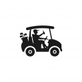 Golf cart logo 11 iron on transfers