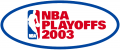 NBA Playoffs 2002-2003 decal sticker