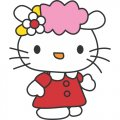 Hello Kitty DIY iron on stickers (heat transfer) version 13