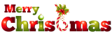 Merry Christmas Holly Candy Caine logo iron on transfer
