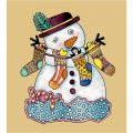 Personalized Christmas Snowman DIY iron on stickers (heat transfer) 2