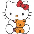 Hello Kitty DIY iron on stickers (heat transfer) version 10