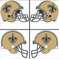 New Orleans Saints Helmet Logo 2000-Present DIY iron on transfers