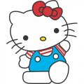 Hello Kitty DIY iron on stickers (heat transfer) version 17