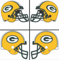 Green Bay Packers Helmet Logo 1980-Present DIY iron on transfers