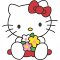 Hello Kitty DIY iron on stickers (heat transfer) version 8