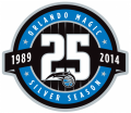 Orlando Magic 2013-14 Anniversary Logo decal sticker