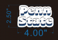 Penn State logo flock sticker iron on transfer
