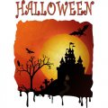 Scaring Halloween night Fabric heat transfer 2013
