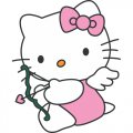 Hello Kitty DIY iron on stickers (heat transfer) version 5