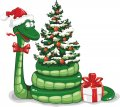 Personalized Christmas Snake DIY iron on stickers (heat transfer) 2