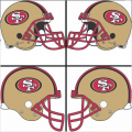San Francisco 49ers Helmet Logo 2009-Present DIY iron on transfers