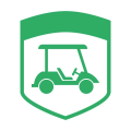 Golf cart logo 12 iron on transfers.