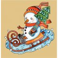 Personalized Christmas Snowman DIY iron on stickers (heat transfer) 1