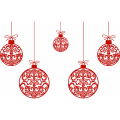 Personalized Christmas Decoration DIY iron on stickers (heat transfer) 1