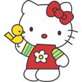 Hello Kitty DIY iron on stickers (heat transfer) version 18