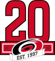 Carolina Hurricanes 2017 18 Anniversary Logo decal sticker