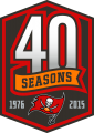Tampa Bay Buccaneers 2015 Anniversary Logo decal sticker